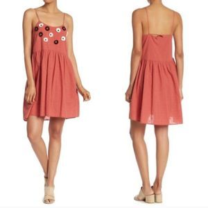 Madewell Embroidered Sunflower Cami Dress